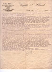 Carta Leopoldo 13 de enero 1918
